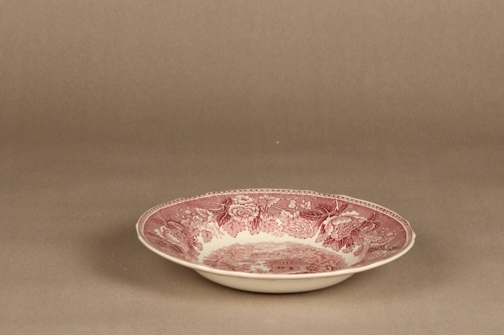 Arabia Maisema lautanen, syvä, suunnittelija , syvä, kuparipainokoriste