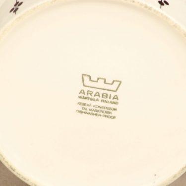 Arabia Kartano kulho, mustavalkoinen, suunnittelija Esteri Tomula,  kuva 2