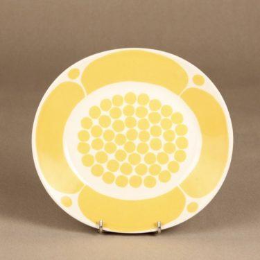 Arabia Sunnuntai lautanen, keltainen, suunnittelija Birger Kaipiainen, painokoriste kuva 2