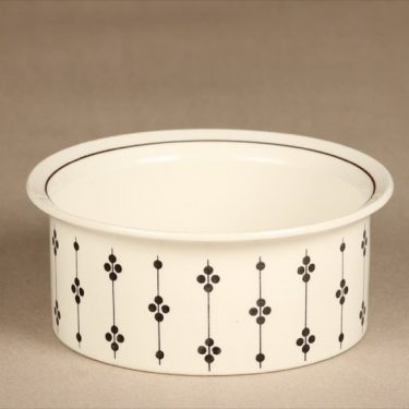 Arabia Kartano bowl, black and white, designer Esteri Tomula, printed and painted