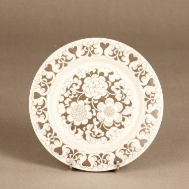 Arabia Gardenia lautanen, ruskea, suunnittelija Esteri Tomula, serikuva