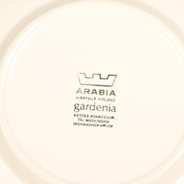 Arabia Gardenia lautanen, ruskea, suunnittelija Esteri Tomula, serikuva kuva 3