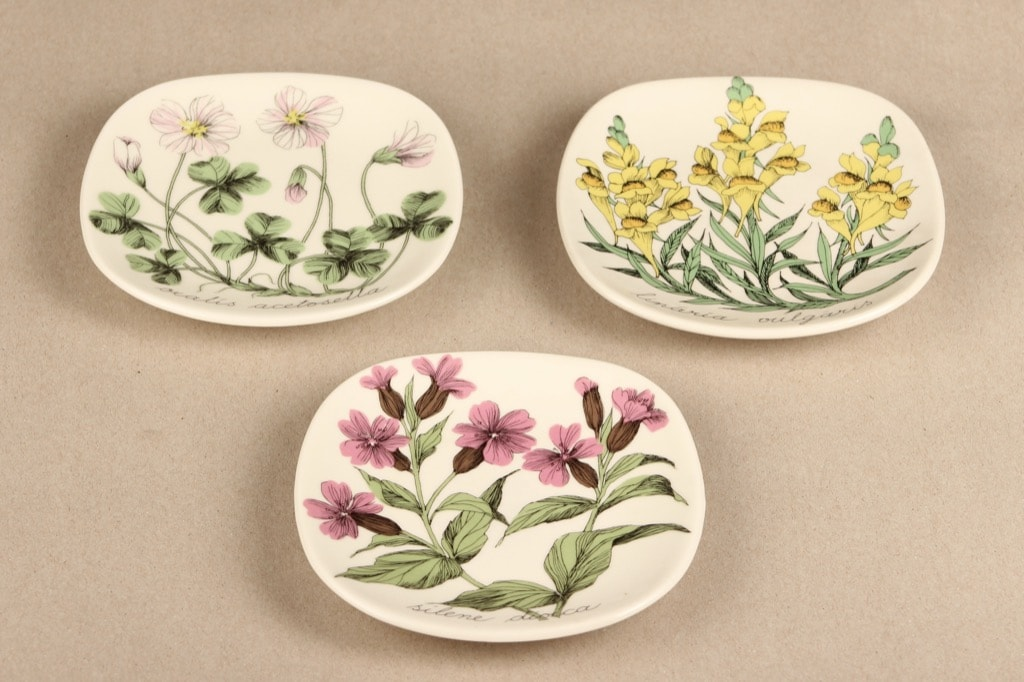 Arabi Botanica koristelaatta, pieni, 3 kpl, suunnittelija Esteri Tomula, pieni, serikuva