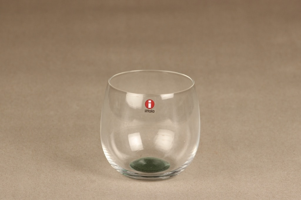Iittala Mondo lasi, kirkas, vihreä, suunnittelija Kerttu Nurminen,