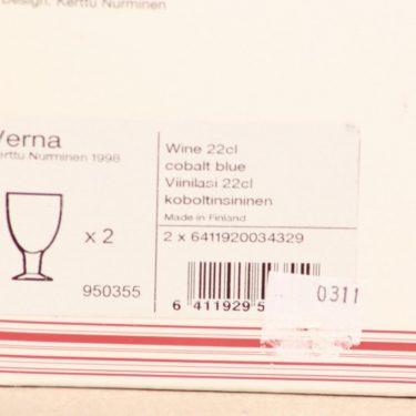 Iittala Verna lasit, 22 cl, 2 kpl, suunnittelija Kerttu Nurminen, 22 cl kuva 3