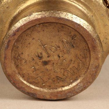 Savitorppa kynttilälyhty, suunnittelija Erkki Stenius, kullattu, signeerattu, käsindreijattu kuva 2