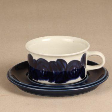 Arabia Anemone teekupit, sininen, suunnittelija Ulla Procope, signeerattu, käsinmaalattu