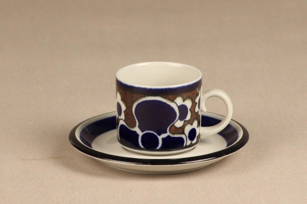 Arabia Saara coffee cup, special decoration, Anja Jaatinen-Winquist