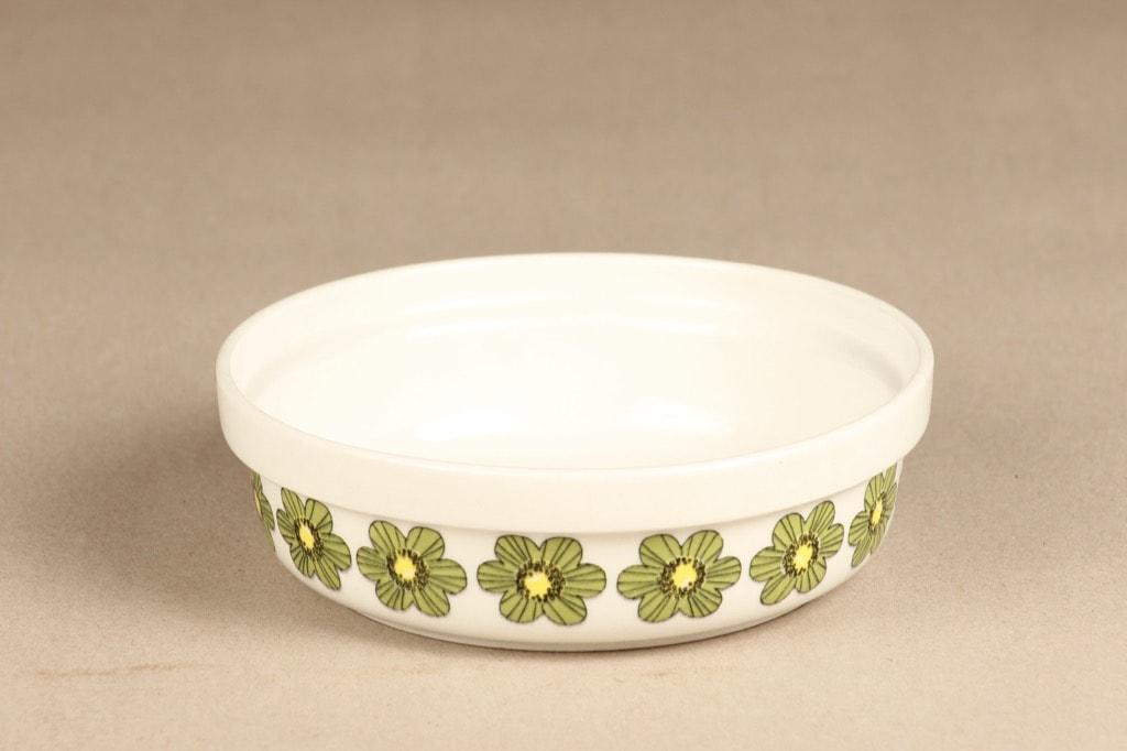 Arabia Primavera kulho, vihreä, suunnittelija Esteri Tomula, serikuva