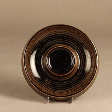 Arabia Mahonki tuhka-astia, ruskea, suunnittelija Ulla Procope, ruskea lasite, signeerattu kuva 2