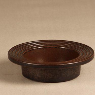 Arabia Ruska tuhka-astia, ruskea, suunnittelija Ulla Procope, ruskea lasite, signeerattu