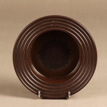Arabia Ruska tuhka-astia, ruskea, suunnittelija Ulla Procope, ruskea lasite, signeerattu kuva 2