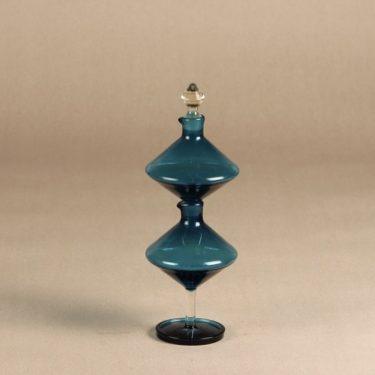 Riihimäen lasi Harlekiini etikka- ja öljykarahvi, sininen, 2 kpl, suunnittelija Nanny Still, 2-osainen