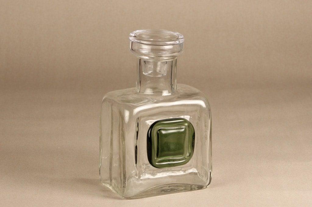 Riihimäen lasi Nappi karahvi, kirkas, suunnittelija Helena Tynell, massiivinen