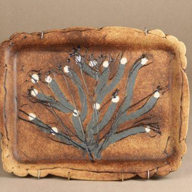 Arabia koristelaatta, suuri, suunnittelija Francesca Lindh, suuri, käsintehty, käsinmaalattu, signeerattu