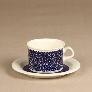 Arabia Faenza teekuppi, sininen, suunnittelija Inkeri Seppälä, serikuva