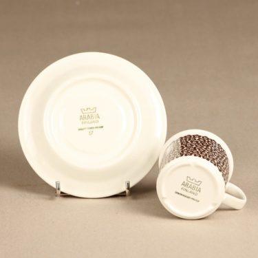 Arabia Faenza kahvikuppi, ruskea, suunnittelija Inkeri Seppälä, serikuva kuva 3