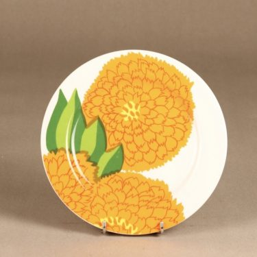 Iittala Primavera lautanen, oranssi, suunnittelija Maija Isola, serikuva