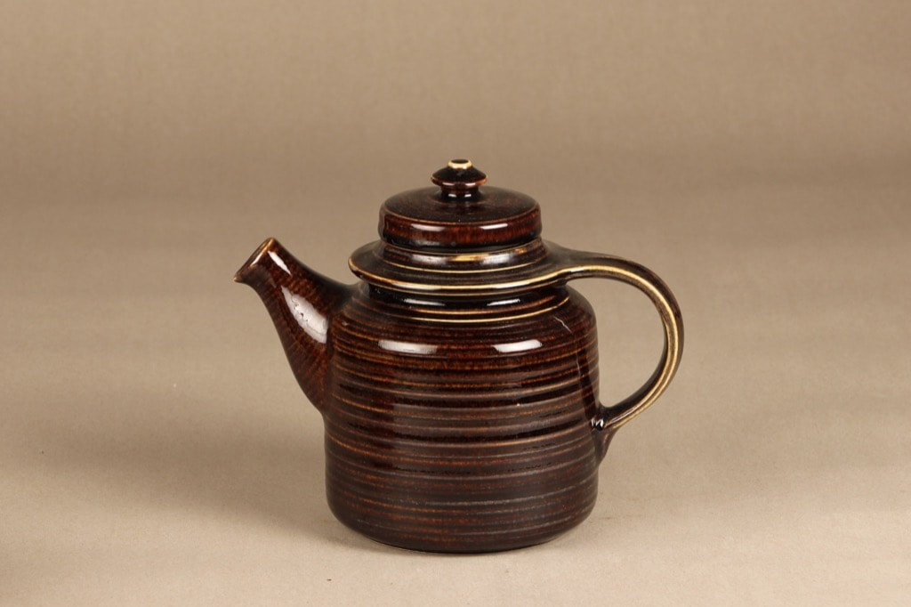 Arabia Mahonki tea pot, 1,3 l, brown glazing