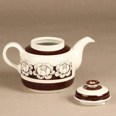 Arabia Katrilli teekaadin, ruskea, suunnittelija Esteri Tomula, serikuva kuva 2