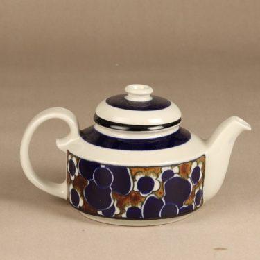 Arabia Saara tea pot, special decoration, designer Anja Jaatinen-Winquist, retro, 2