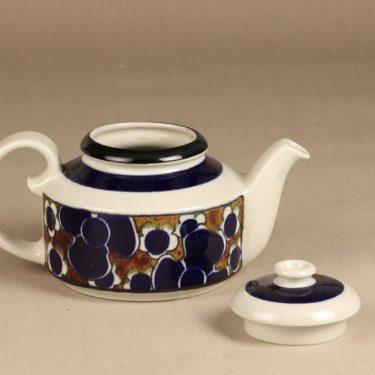 Arabia Saara tea pot, special decoration, designer Anja Jaatinen-Winquist, retro, 3
