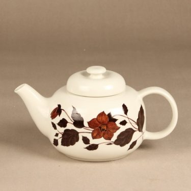 Arabia Tea for Two teekaadin, ruskea, suunnittelija Gunvor Olin-Gronqvist, serikuva