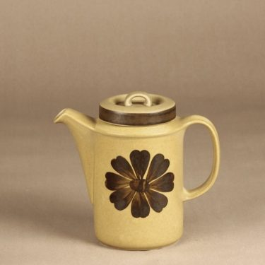 Arabia Tunturi kahvikaadin, 1 l, suunnittelija Olga Osol, 1 l, käsinmaalattu