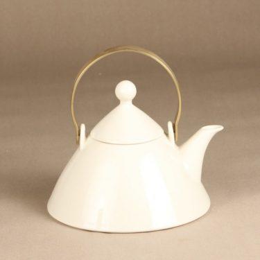 Arabia Harlekin teekannu, valkoinen, suunnittelija Inkeri Leivo,  kuva 2