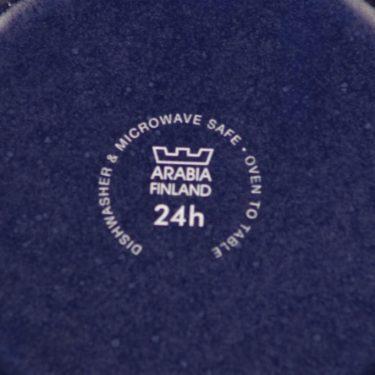 Arabia 24 h kahvikuppi ja lautaset, sininen, suunnittelija Heikki Orvola,  kuva 3