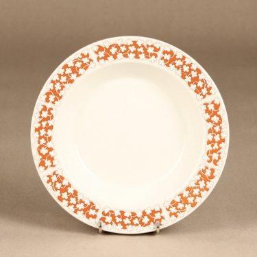 Arabia Pizzicato lautanen, syvä, suunnittelija Esteri Tomula, syvä