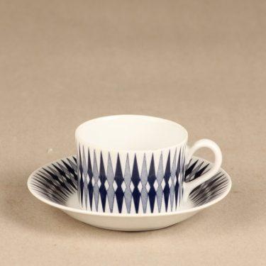 Arabia Revontuli mocha cup, blue, Raija Uosikkinen