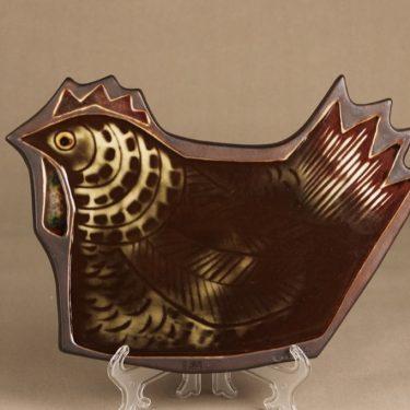 Arabia Kana koristelaatta, suunnittelija Gunvor Olin-Gronqvist, käsinmaalattu, signeerattu