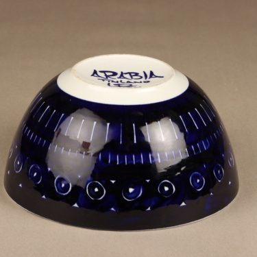 Arabia Valencia bowl, hand-painted, designer Ulla Procope, signed, 2