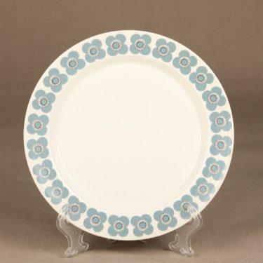 Arabia Veera lautanen, siniharmaa, suunnittelija Esteri Tomula, retro