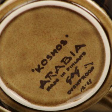 Arabia Kosmos teekupit 6 kpl ja kaadin, suunnittelija Gunvor Olin-Gronqvist, puhalluskoriste kuva 3