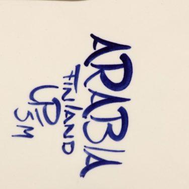 Arabia Valencia talouslevy, käsinmaalattu, suunnittelija Ulla Procope, käsinmaalattu, signeerattu kuva 2