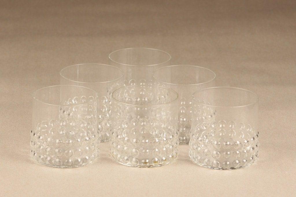 Riihimäen Lasi Grappo lasit, 15 cl, 6 kpl, suunnittelija Nanny Still, 15 cl