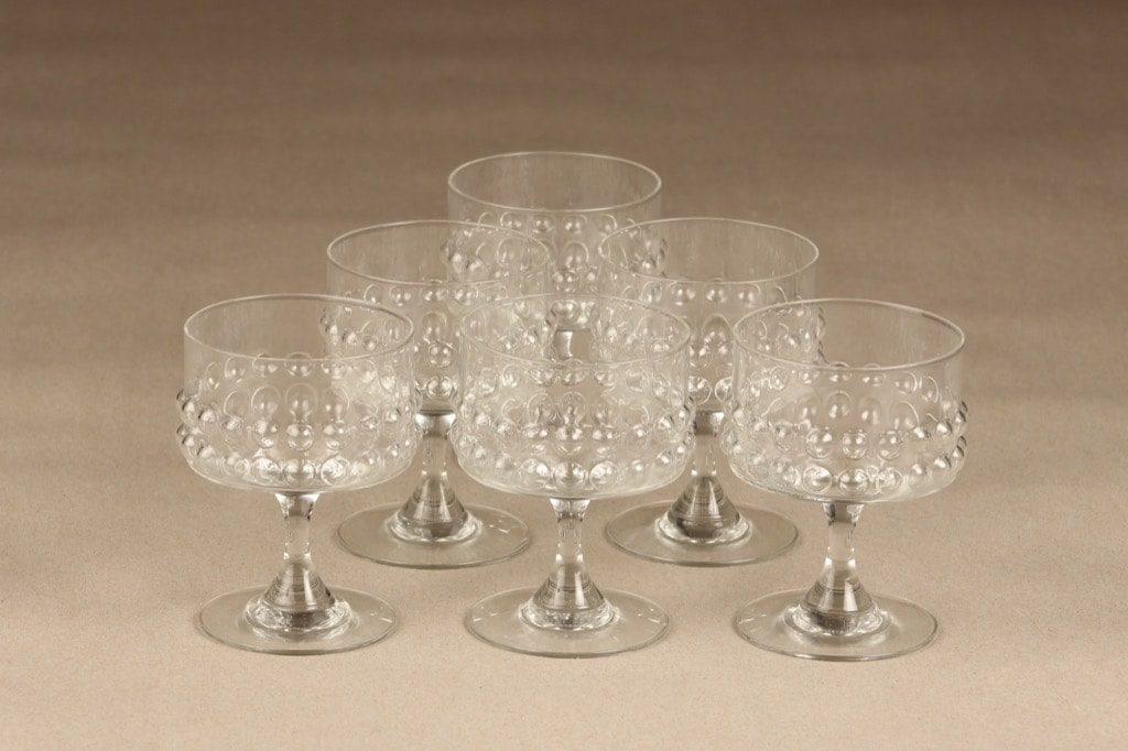 Riihimäen Lasi Grappo cocktali lasit, 14 cl, 6 kpl, suunnittelija Nanny Still, 14 cl