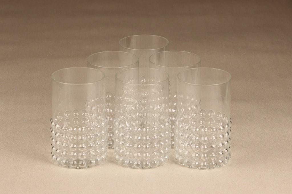 Riihimäen lasi Grappo lasit, 40 cl, 6 kpl, suunnittelija Nanny Still, 40 cl