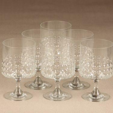 Riihimäen Lasi Grappo red wine glass, 30 cl, 6 pcs, Nanny Still