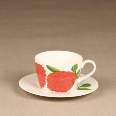 Iittala Primavera kahvikuppi, punainen, suunnittelija Maija Isola, serikuva