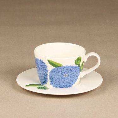 Iittala Primavera kahvikuppi, sininen, suunnittelija Maija Isola, serikuva