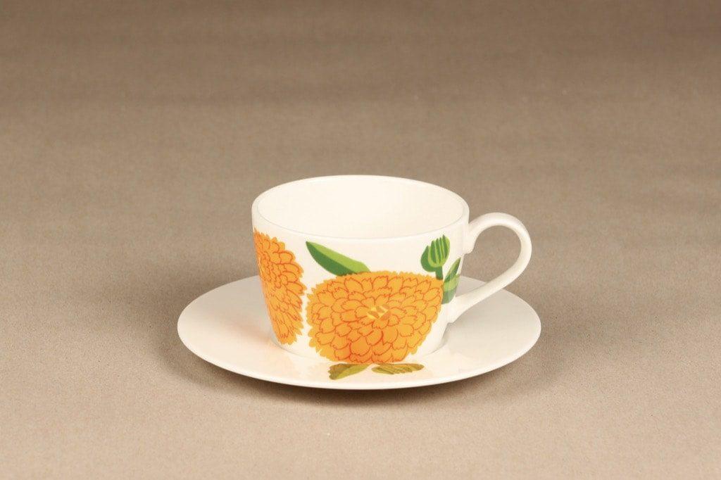 Iittala Primavera kahvikuppi, oranssi, suunnittelija Maija Isola, serikuva