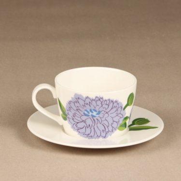 Iittala Primavera coffee cup, turquoise, designer Maija Isola, silk screening