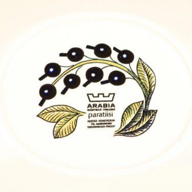 Arabia Paratiisi lautanen, soikea, suunnittelija Birger Kaipiainen, soikea kuva 2