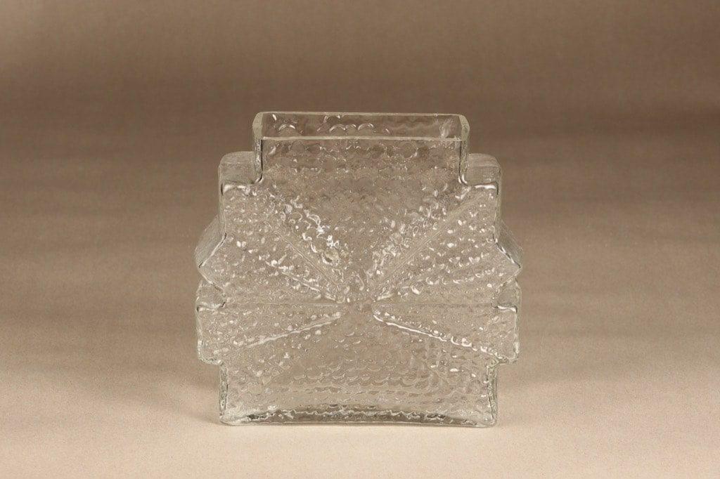 Riihimäen lasi Stellaria maljakko, kirkas, suunnittelija Nanny Still, massiivinen
