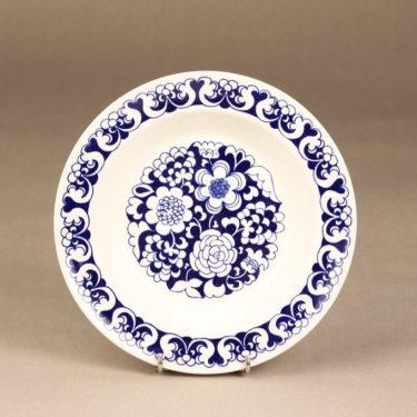 Arabia Gardenia lautanen, sininen, suunnittelija Esteri Tomula,