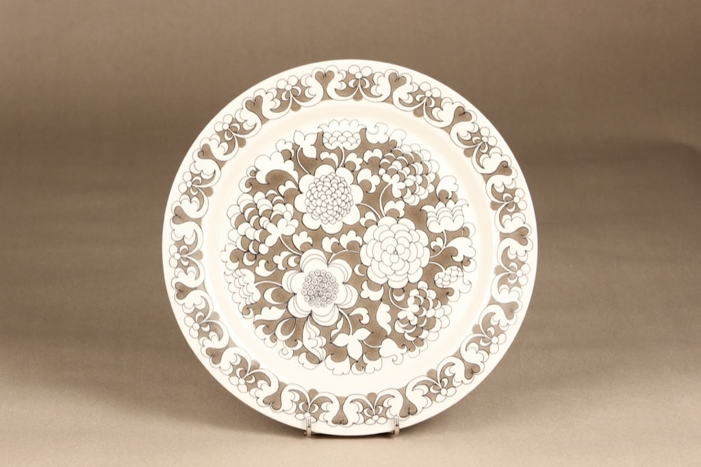 Arabia Gardenia dinner plate, Esteri Tomula