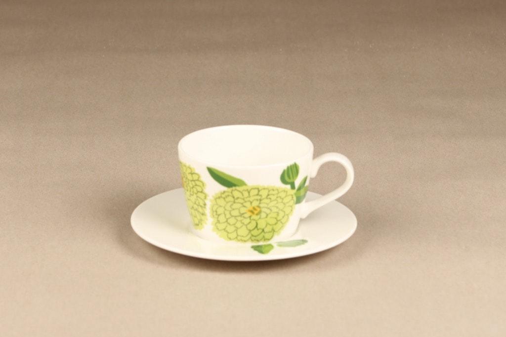 Iittala Primavera coffee cup, apple green, designer Maija Isola, silk screening